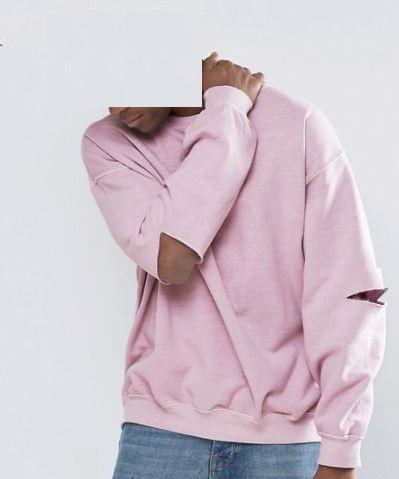 De gran tamaño sudadera noche crew Jumper pullover cuello alto Camiseta larga en lana <span class=keywords><strong>Terry</strong></span> francés