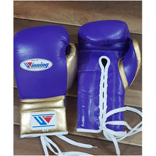 New Mexican style leather boxing gloves with winning or any name or brand logo