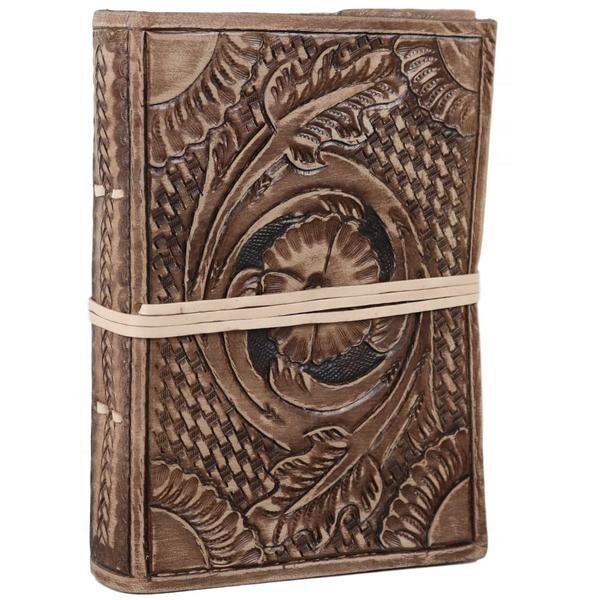Export Quality Leather Cover Journal Hand tooled Embossed Diary Handmade Notebook for gift him or her