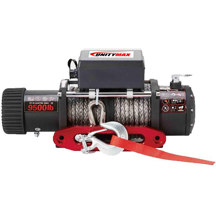 12V 9500lbs winch OEM 4X4 Wholesale 9500lbs with Synthetic Rope 4x4 Offroad Accessories Electric Winch