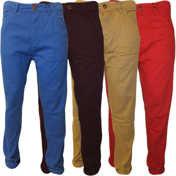 Multi color Red/Khaki/Blue/Brown Color Chino pants