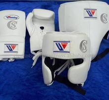 Custom Logo White Genuine Leather Winning Boxing gears set any color any size