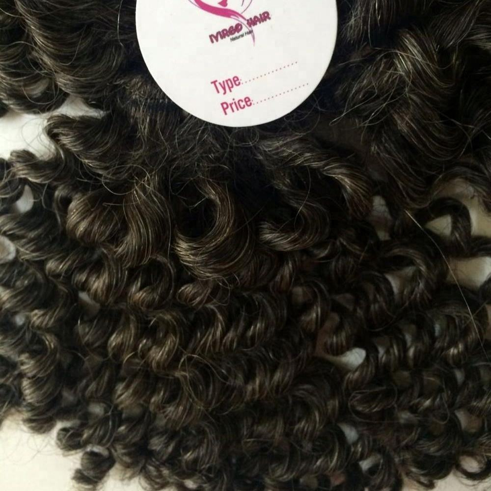 high quality gray hair weave natural color which is good for bleaching to get any colors super double drawn