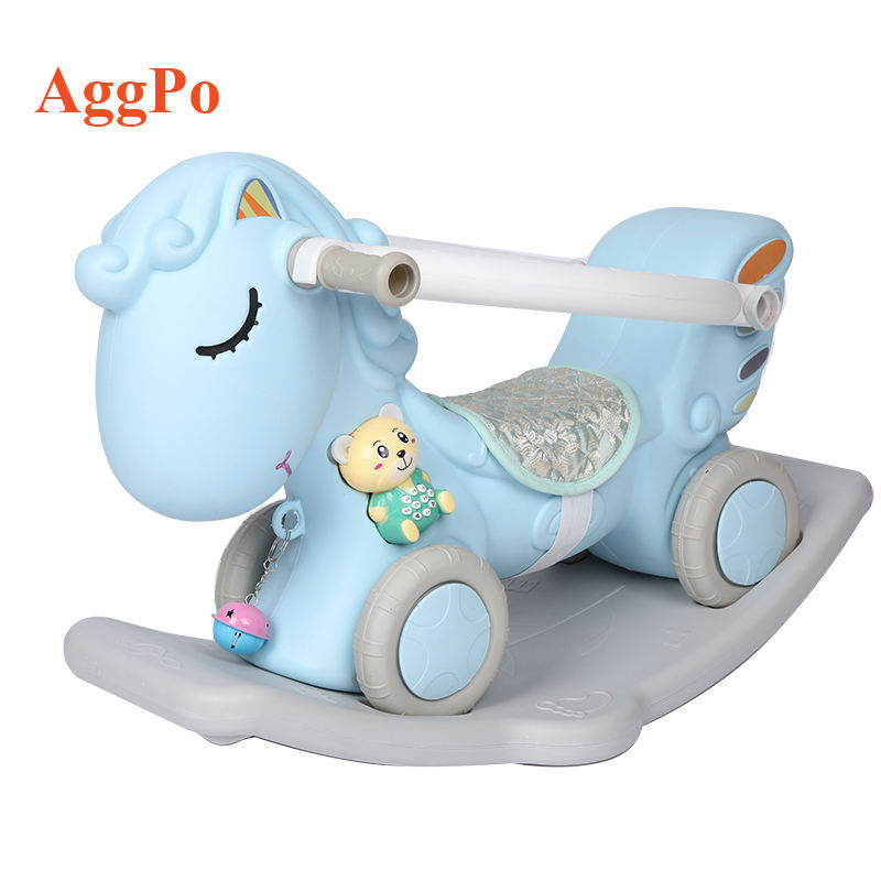 ride on toys manufacturer indoor plastic multi-function rocking horse for kids with children's music story machine