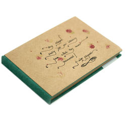 Custom Printed Premium Notebook Diary For Writing Sketchbook For Sketching With Brown Recycled Paper