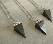 Hematite Necklace Hematite pendant triangle Necklace for men women
