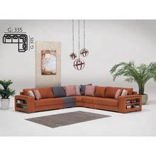 IDER LIMYRA CORNER SOFA SET (Comfy Corner Sofa with Detachable Seating Units and Bookcase at the end of the Armlets)