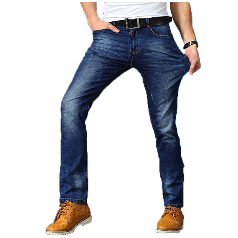 New Men's Casual Jeans Pants Slim Fit Stretch Pants Mens Jeans Made Pants For Sale