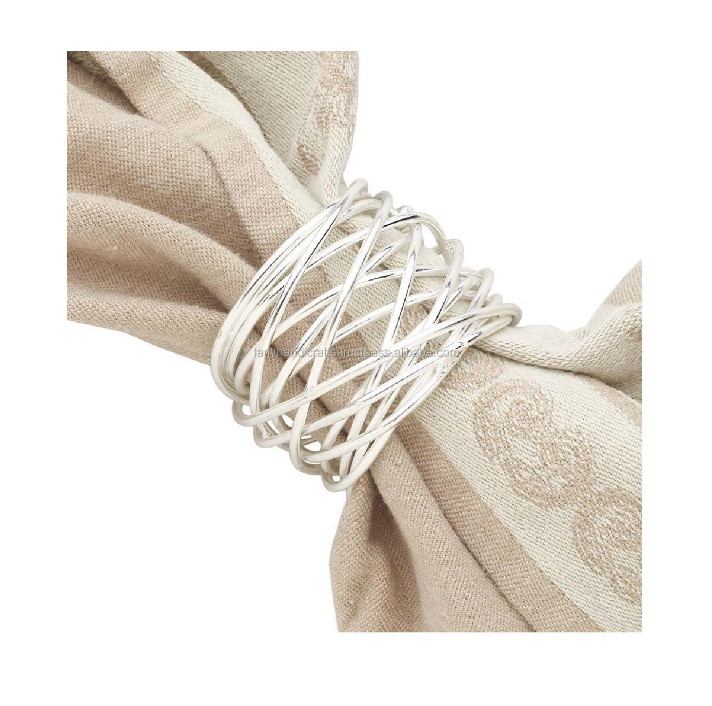 Latest Design Napkin Ring Wire For Wedding