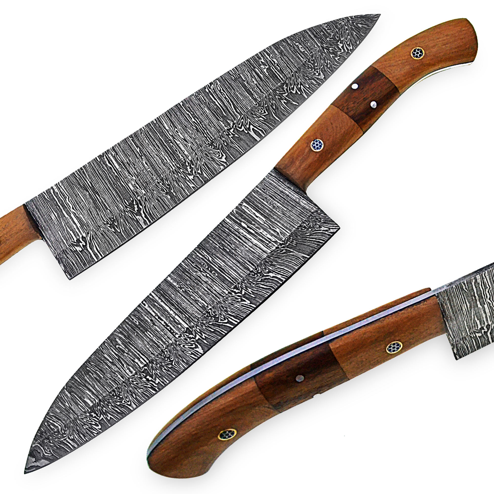 Custom Handmade Damascus Knives- 13 inches Damascus Steel Chef Knife