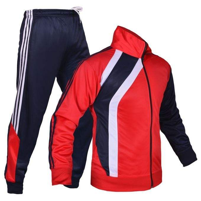 100% polyester sports man tracksuit