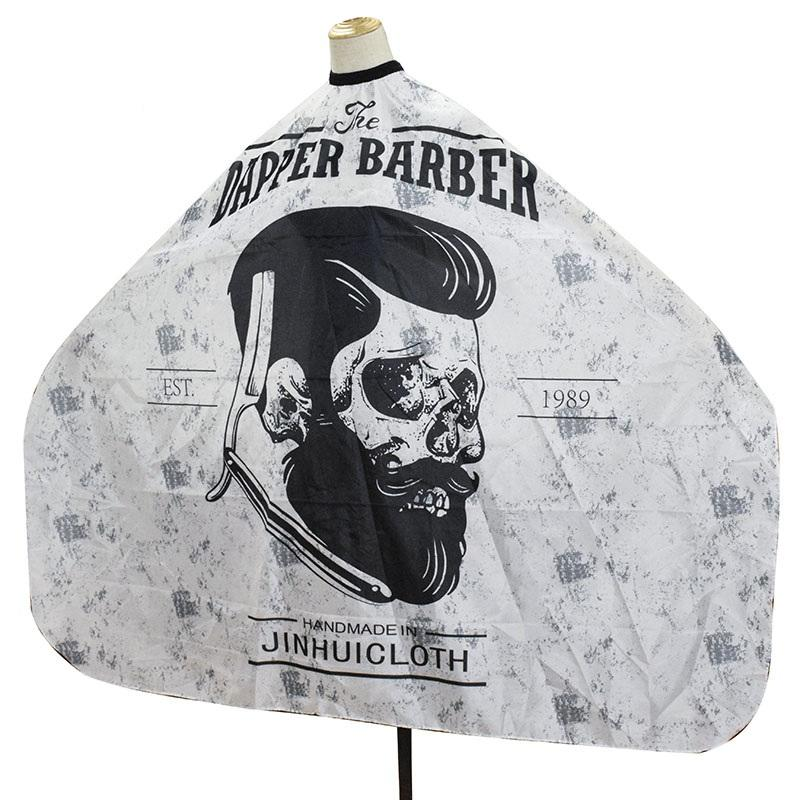 Polyester waterproof Adjustable snap Hair Salon Capes Hair Cutting Custom Printed barber Capes wholesale