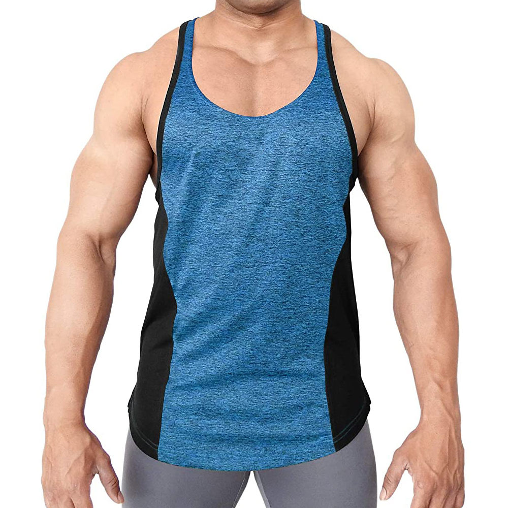 Custom Sports Singlet Slim Fit String Gym Vest For Men