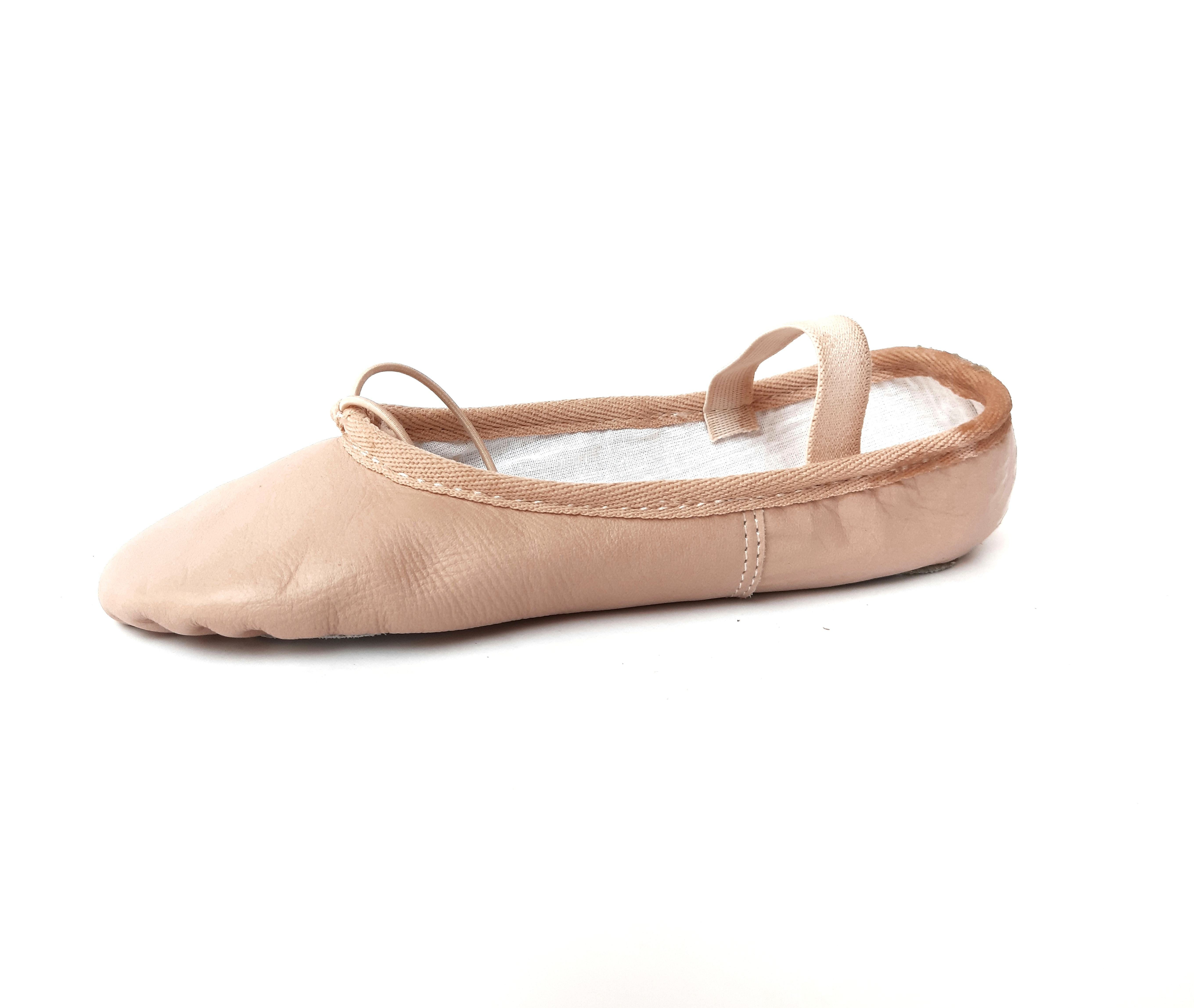 Soft Leather Split Sole Pink Ballet Slippers Genuine Leather Adult Dance Shoes Women Custom Size Pointe Leather Ballet Sneakers