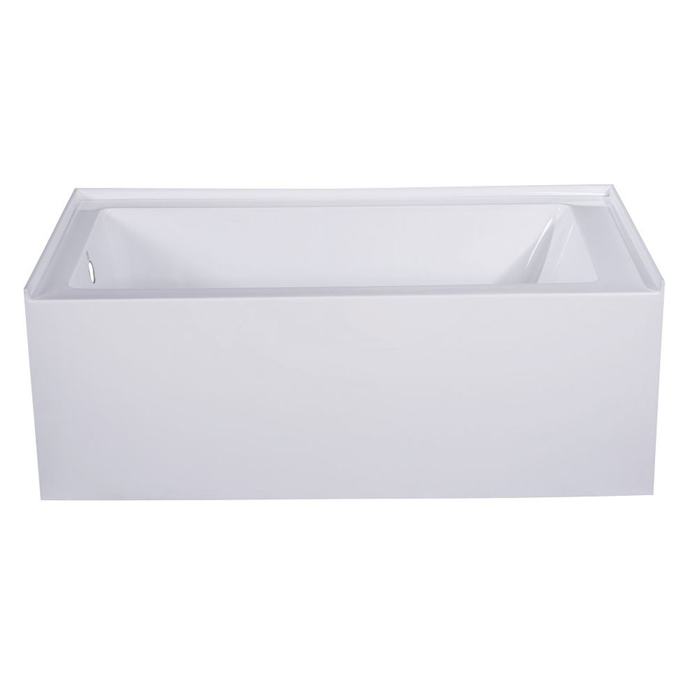 TASORO Bath Tub with Apron White, UPC Approved, Made in china each tub comes drop-in ready with right and left drain
