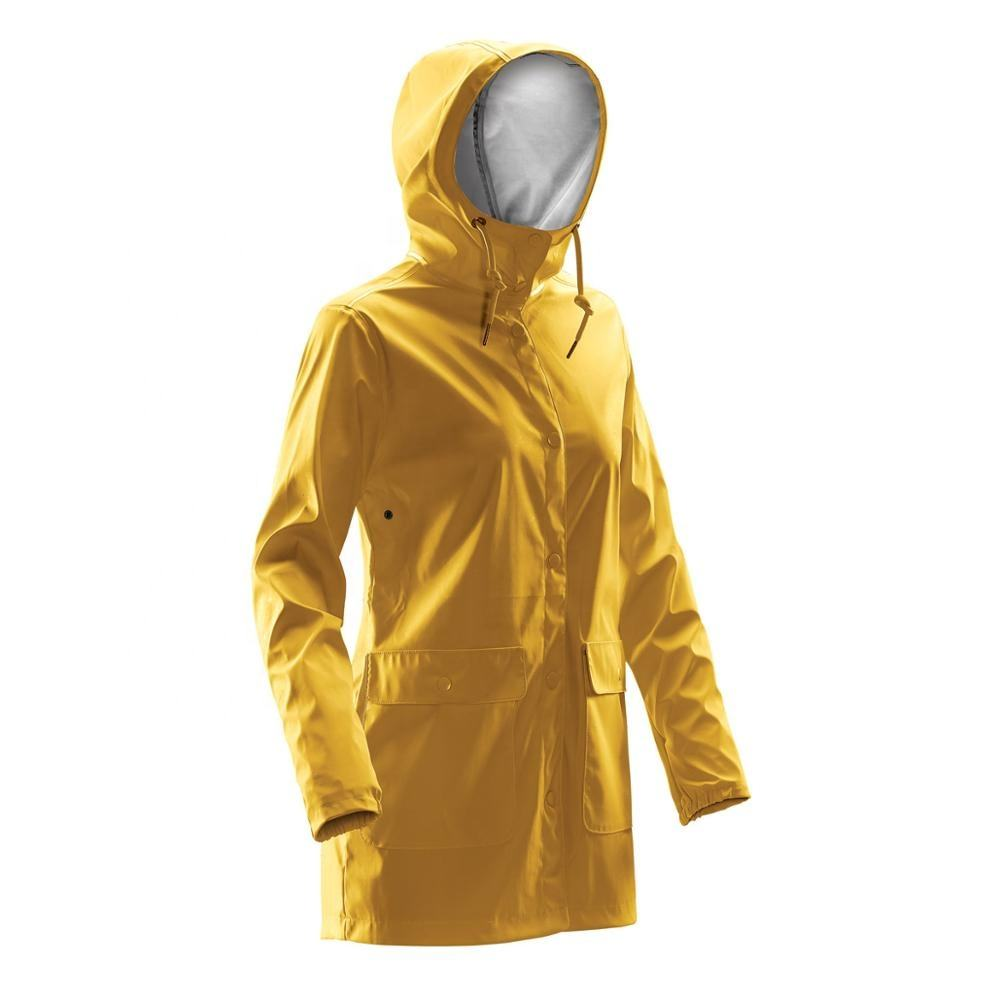 Wholesale High Quality 100% Polyester Fashion Waterproof Winter Mens long Rain