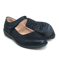 Black PVC Leather Hostel / Uniform / Formal Shoes Girls FM58362