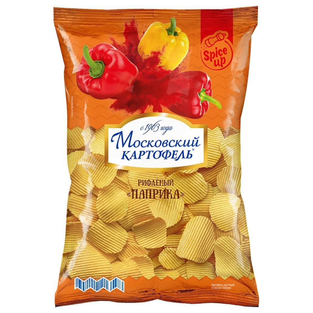 Moskovskiy Kartofel Ruffled potato chips with Paprika, buy wholesale