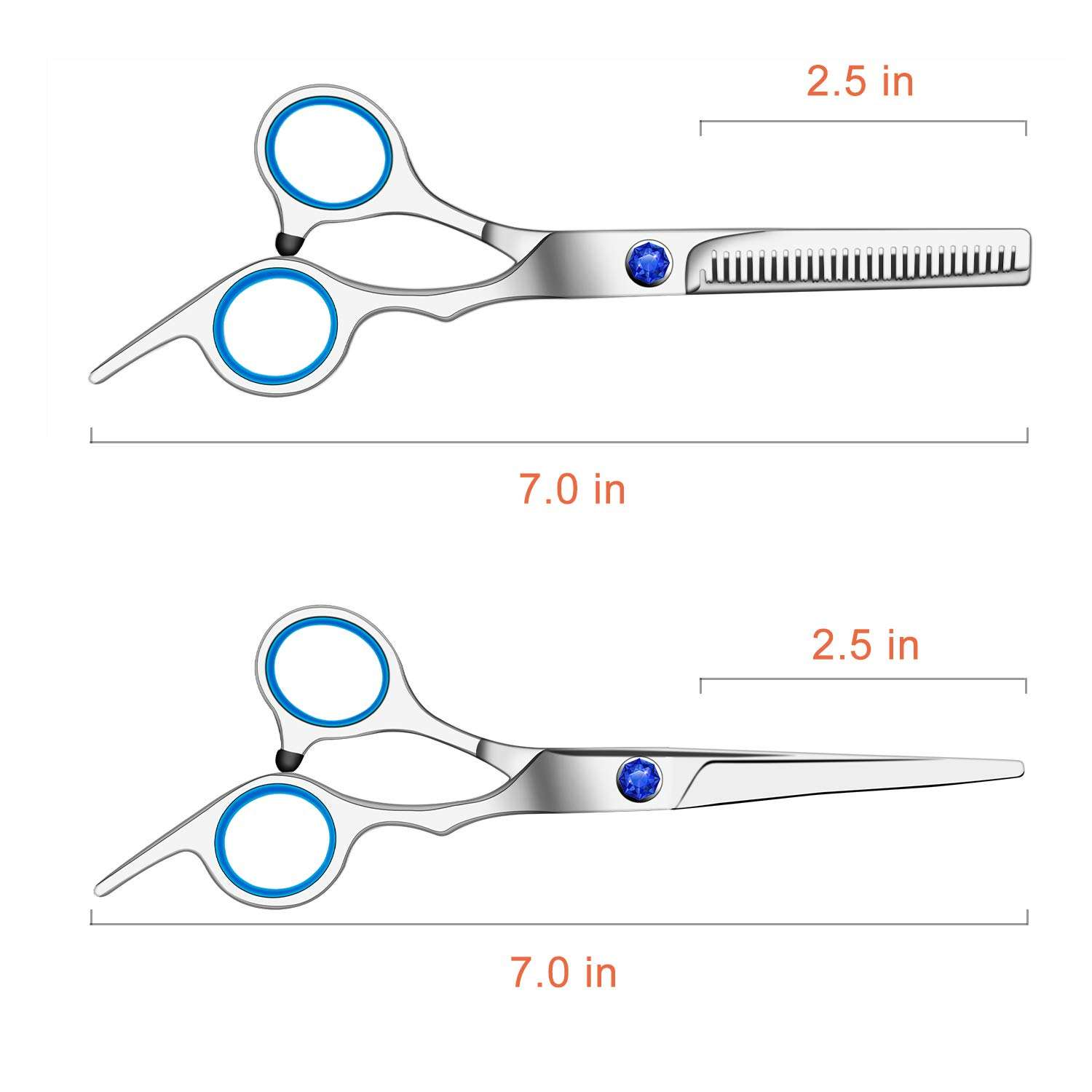 Barber Thinning Scissors with Stylish Adjustable screw For Hair Cutting With Custom Logo.