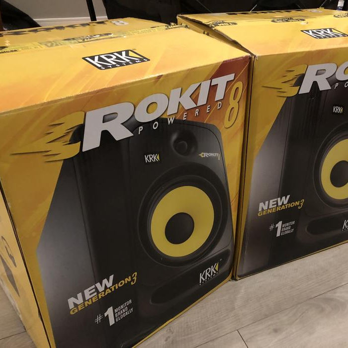 New Affordable KRK Rokit RP5 G4 Professional Active Powered DJ Studio Monitor Speakers with Isolation Pads & Cable