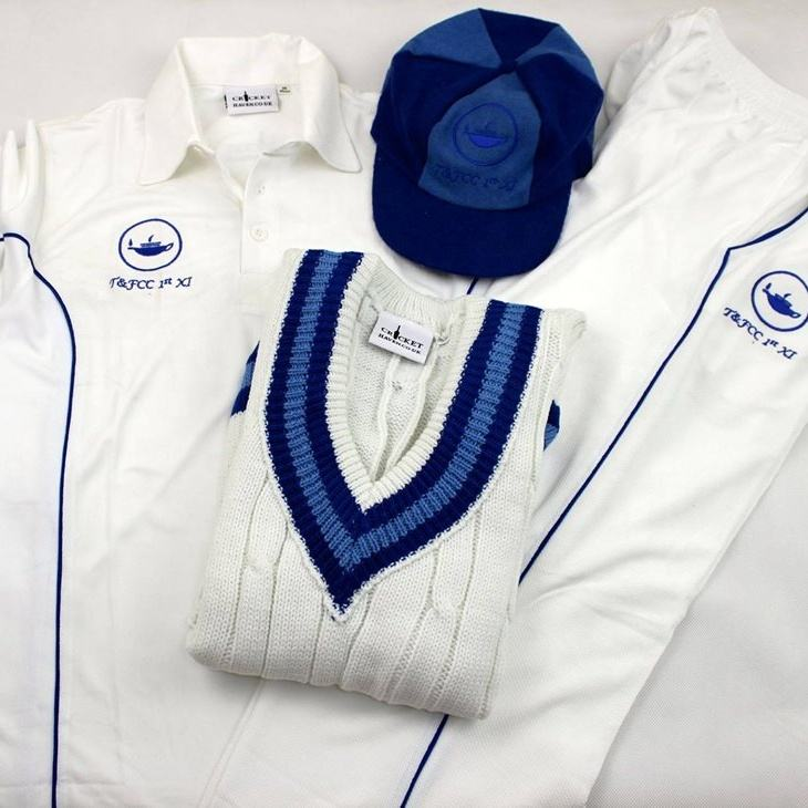 Men Cricket White Uniforms