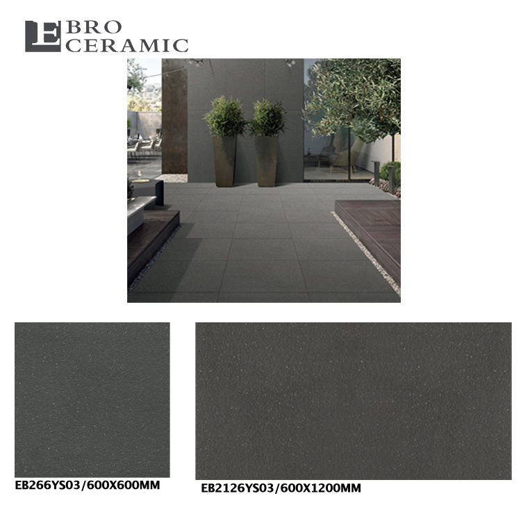 First choice grade 60x120cm large format 2cm porcelain granite stone look outdoor paver driveway tile