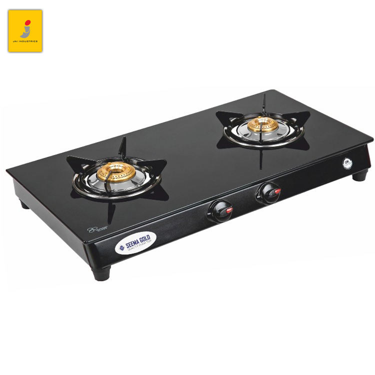Renowned Indian Exporter of Best Quality Glass Made Surface 2 Burner Table Top Gas Stove