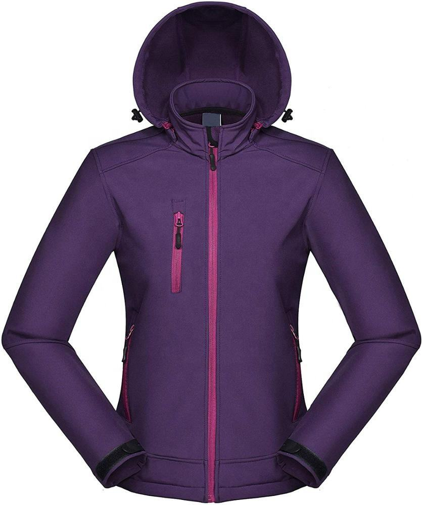 Women's Windproof Softshell Jacket Insulated Spring Autumn Windbreaker
