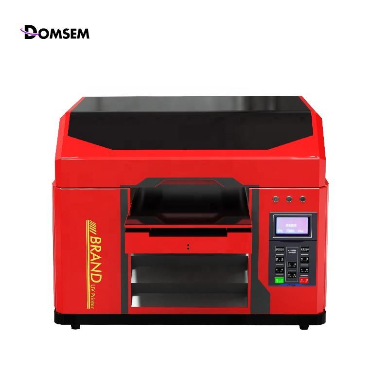 Multifunctional A3 A4 LED UV Flatbed Printer 6 Colors UV Printer For Phone Case Glass Cylinder Bottle Multi-layer Printing