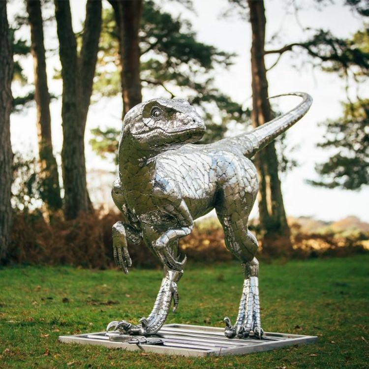 Garten 304 edelstahl anilmal drachen dinosaurier kopf skulptur metall