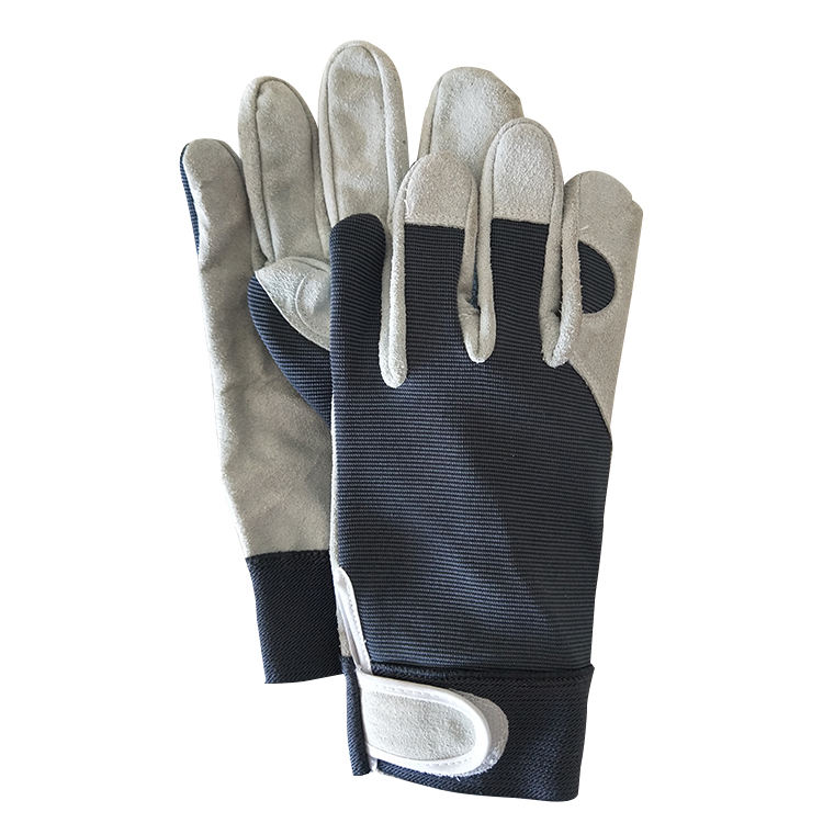 Wholesale Genuine Cowhide With Knitted Fabric Outdoor Gloves For Working