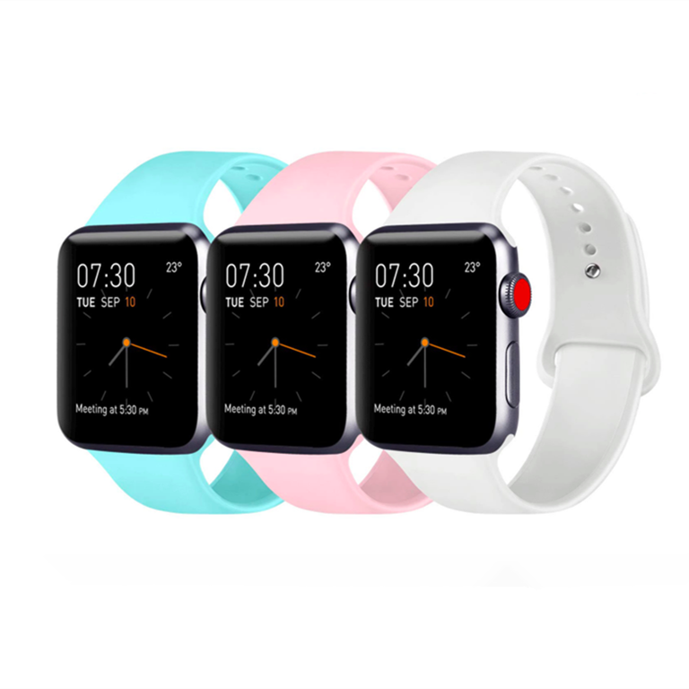 2020 Obastyle Liquid Silicone Waterproof Strap For Series 4/3/2/1