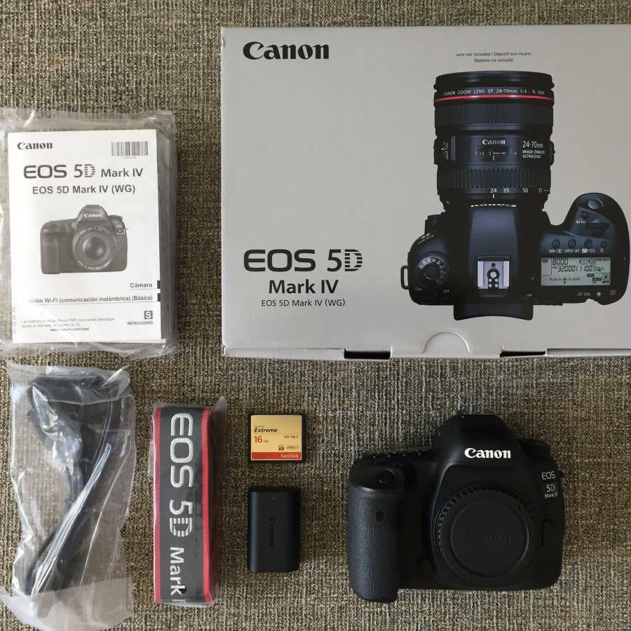 Wholesales For Canon EOS 5D Mark IV DSLR Camera + 50mm 1.8 STM + 70-300 + Deluxe Accessory Kit