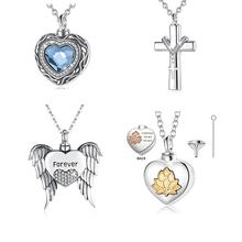 925 sterling silver keepsake jewelry memorial ashes pet urn cremation necklace pendant
