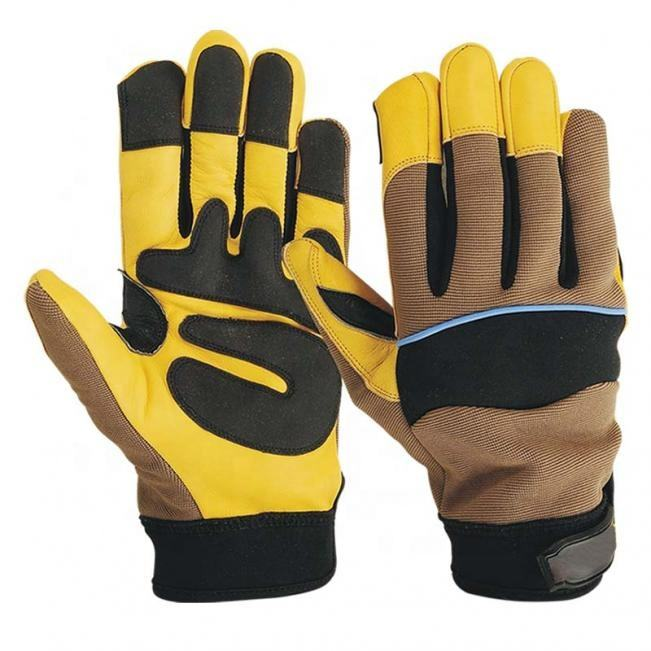 High Quality Cowhide Leather Mechanic Work Gloves