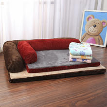 Factory supply Orthopedic high quality  luxury pet bed sofa for dogs cats kittens