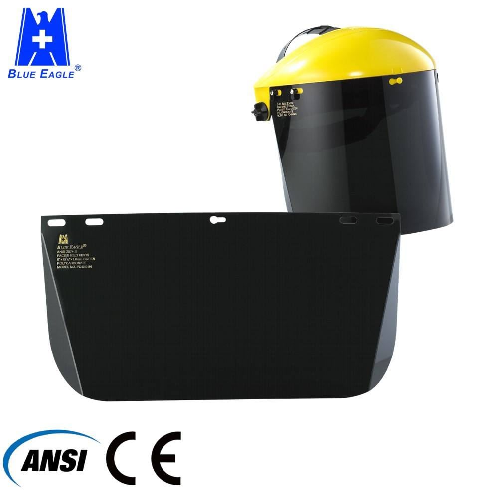 Workplace protective industrial UV protection hard hat face shield