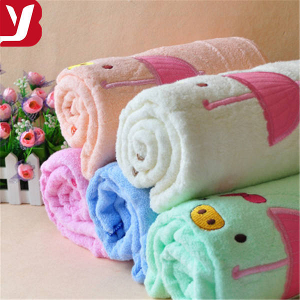 low MOQ skin-friendly 100% cotton baby/kids/children bath towel