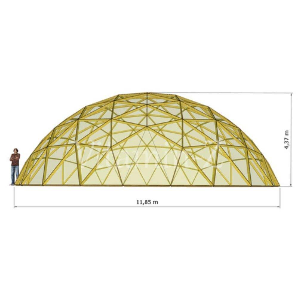 Geocool greenhouse D12 - Unique Shape Clear Geodesic Garden Dome Structure For Sale, Covered with Strong Elastic Clear Film