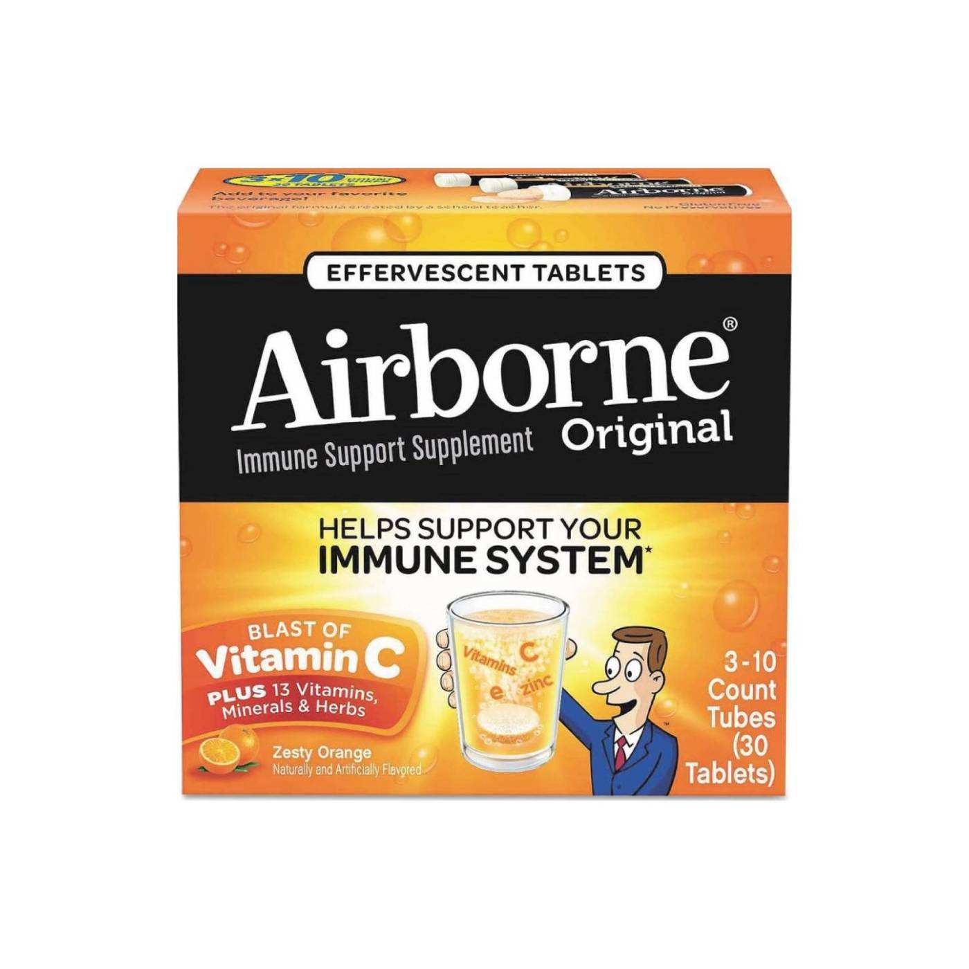 Unique Combination Of Multi Vitamins Airborne Immune System Support Effervescent Tablet