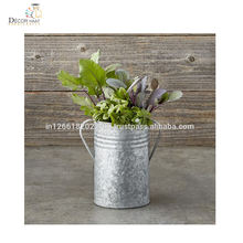 Unique Galvanized Metal Table Top Flower Planter