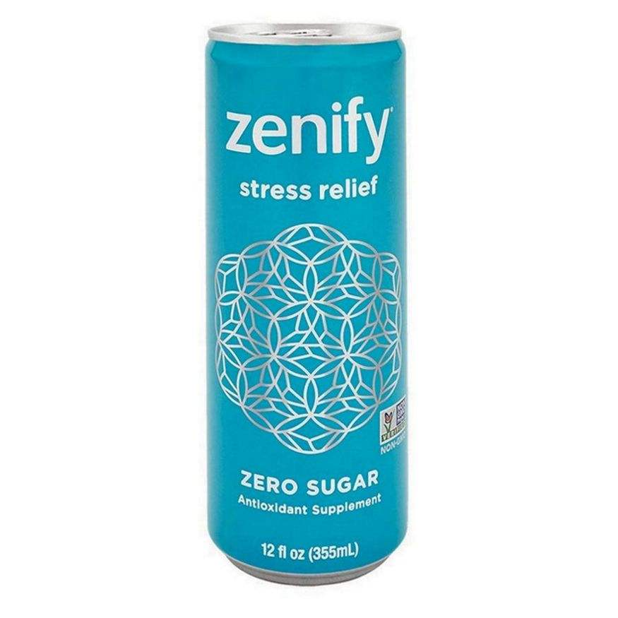 Zenify Zero Sugar All Natural Formula, Supplement, Formula with L-Theanine, GABA, Vitamin B6 (Pack of 12)