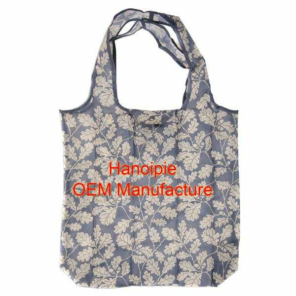 recycled polyester bag polyester laundry bag polyester shopping bag foldable