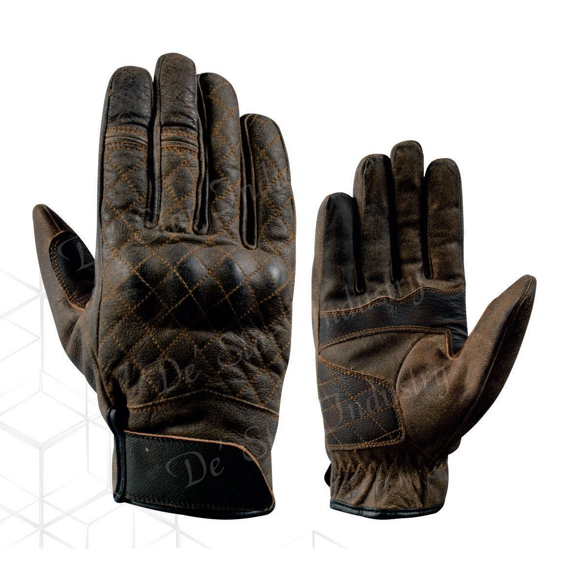 Motocross Custom Logo 3d sport Motorbike Riding Racing Gloves Full Finger Breathable Brown Motorcycle Pro-biker Gloves