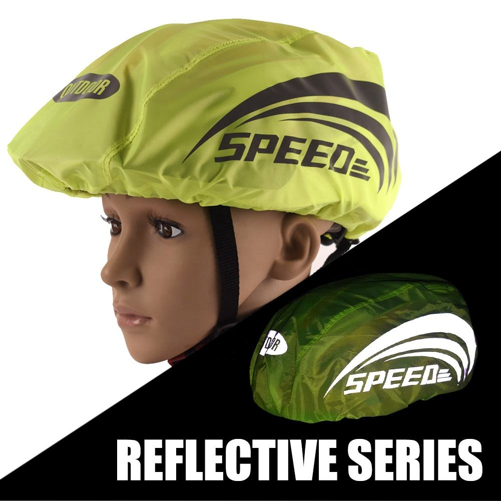 Bike Helmet Cover with Reflective Strip, High Visibility Waterproof Cycling Road Bicycle Ride Gear Dustproof Breathable