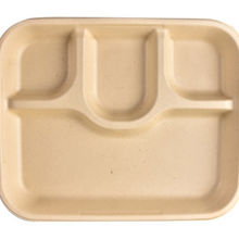 Bagasse  Sugarcane Food Tray 4 Compartment and 5 Compartment Food Tray