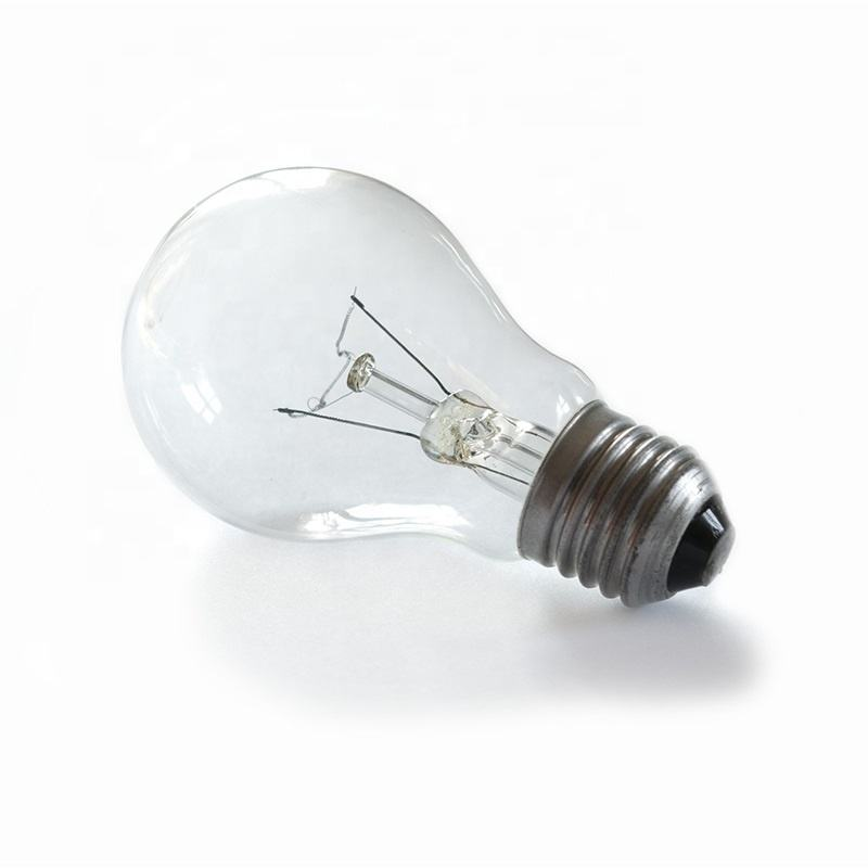 Etch Lighting E26 Bulb Filament Light E27 B22 100W Halogen Clear Frost Glass Dimming Electric Bulb A55 Incandescent Bulb