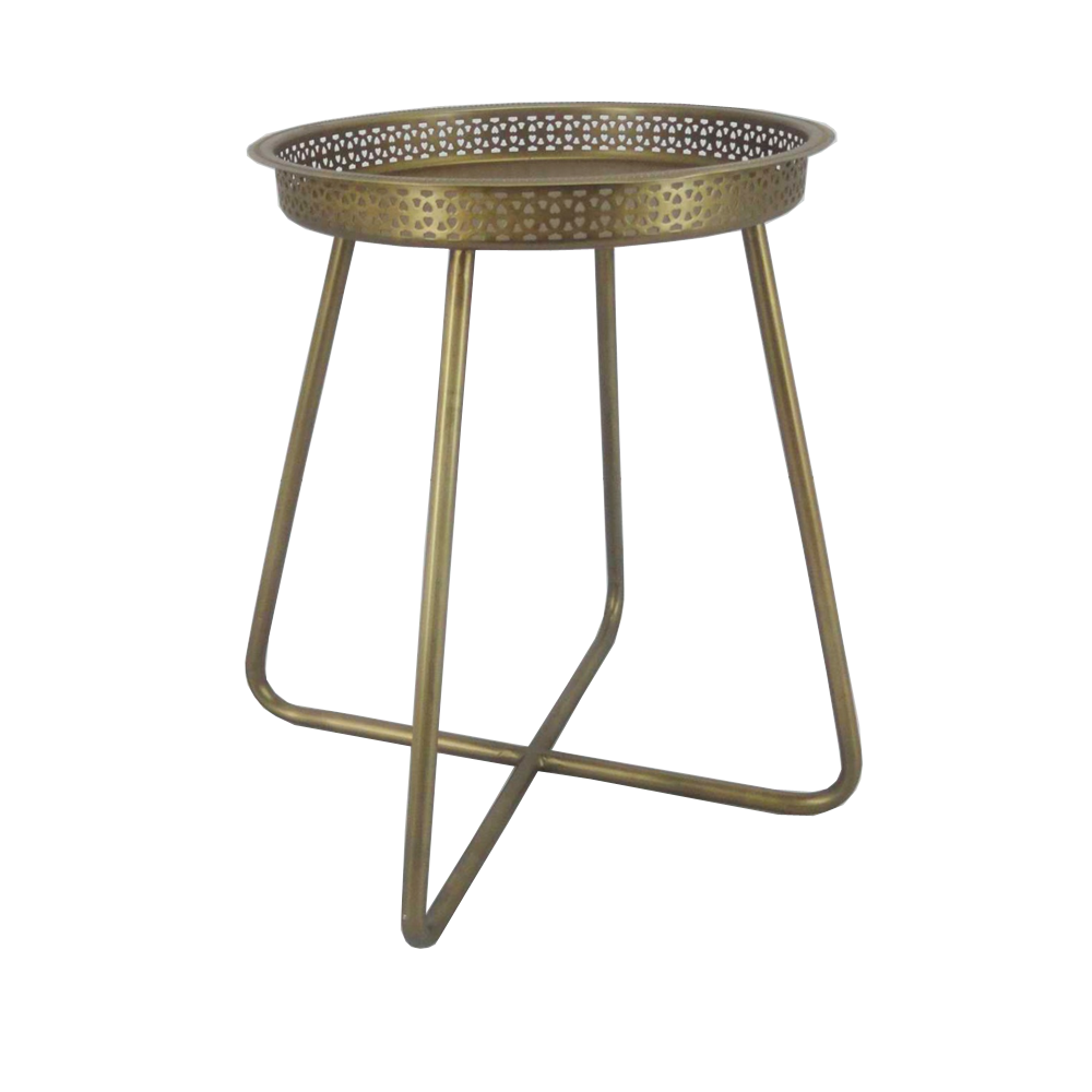 Matt Gold Breakfast Serving Round Tray Table