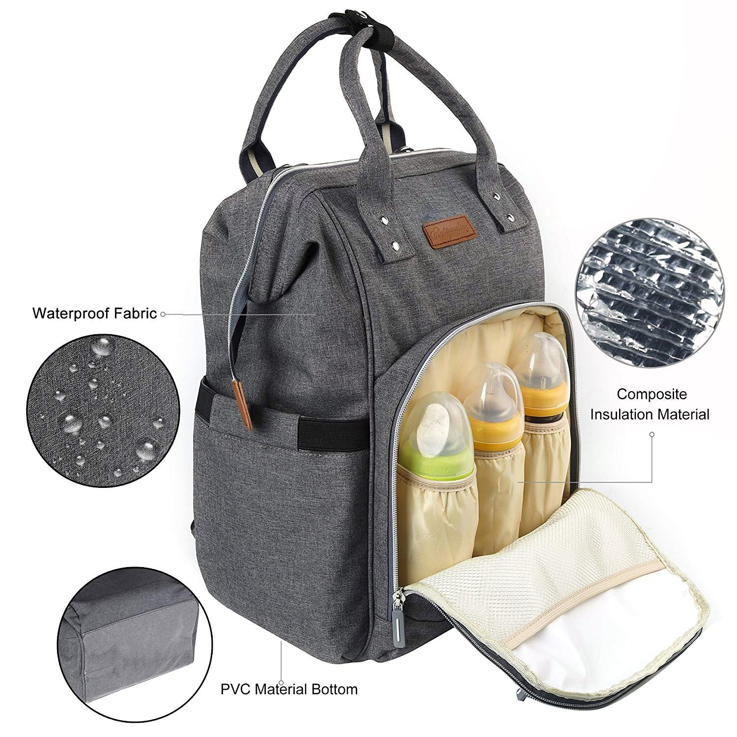 CE/CPC OEM/ODM 2020 outdoor fashion practical high quality multi-function Mommy bag diaper bag