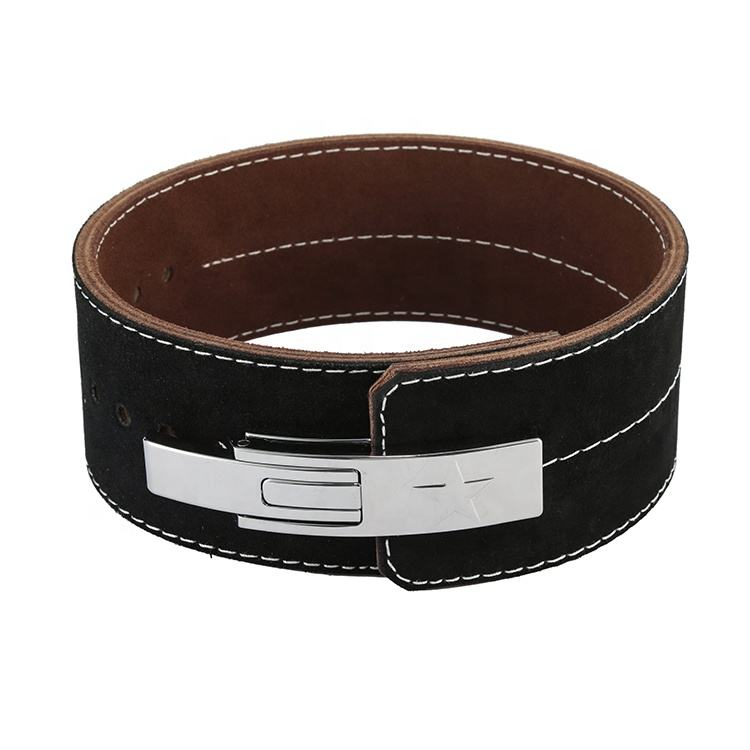 Dead Lifter Used Top Quality Leather Weightlifting Power Buckle Belt/Comfortable/Easy/Sued inside Lever Buckle Belt